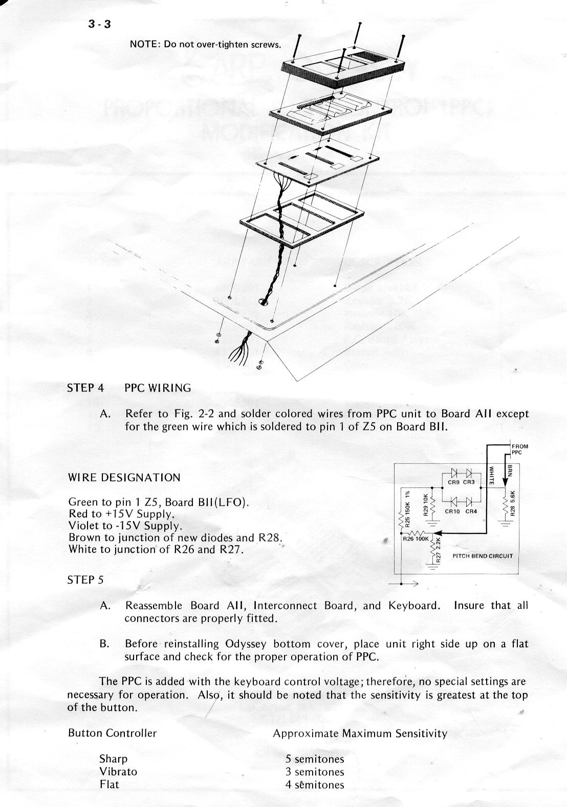 Schematics For The Arp Odyssey Synthesizer Ppc Wiring Diagram Page 1 5 Printed Circuit Board